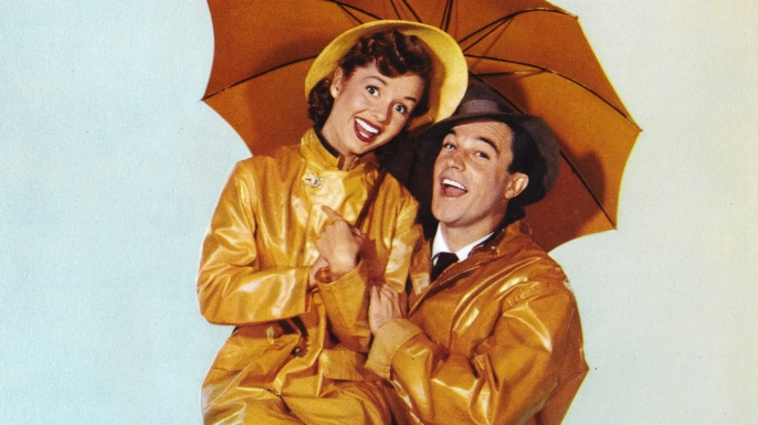 A poster for Stanley Donen's 1952 comedy 'Singin' in the Rain' starring Gene Kelly and Debbie Reynolds. (Credit: Movie Poster Image Art/Getty Images)