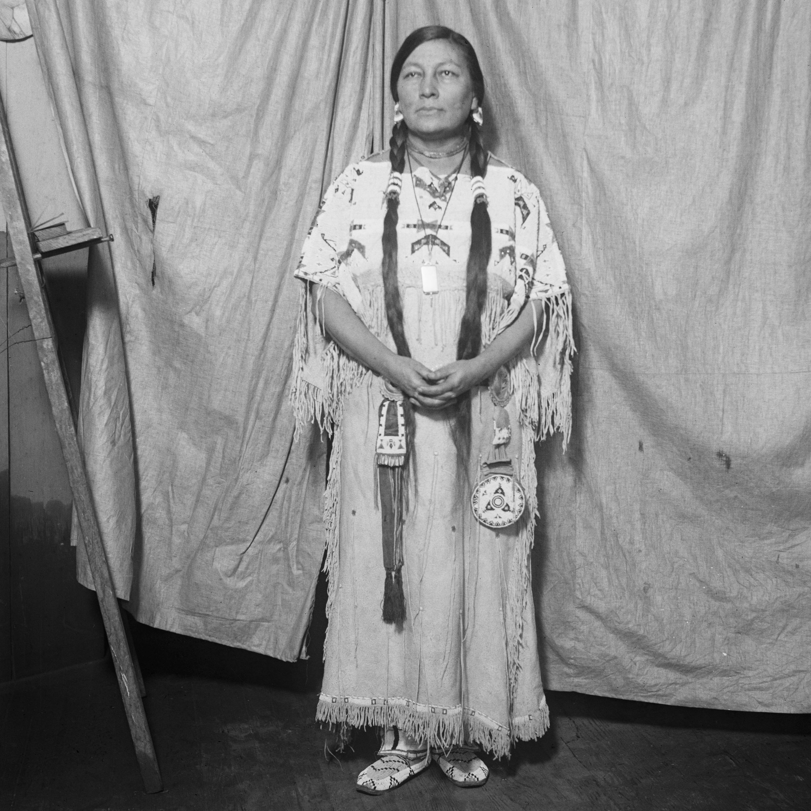 Zitkala-Sa, Native American author and lecturer, 1926. (Credit: Bettmann Archive/Getty Images)