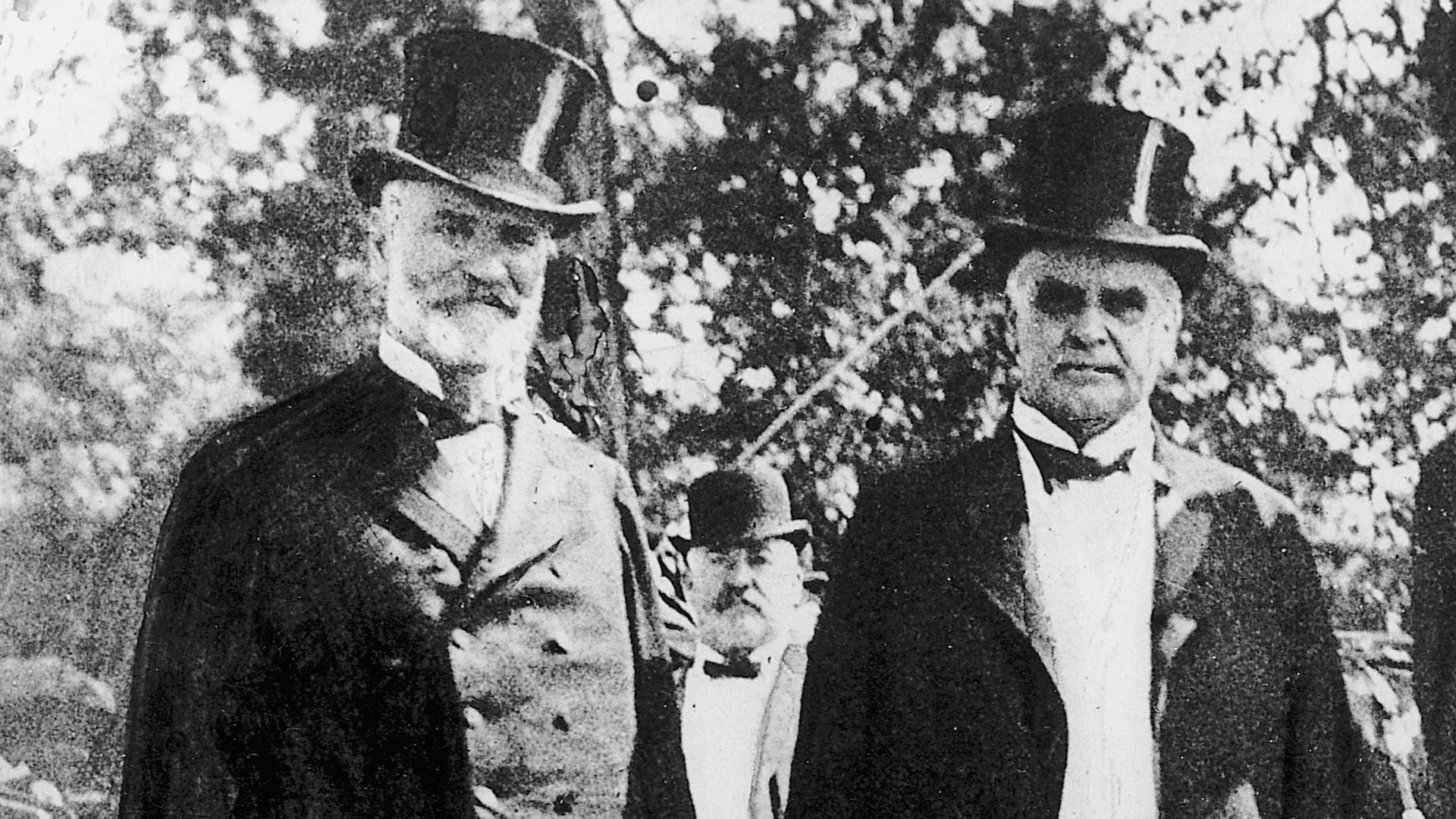 James Wilson, Secretary of Agriculture, with President William McKinley, 1901. (Credit: Bettmann Archives/Getty Images)