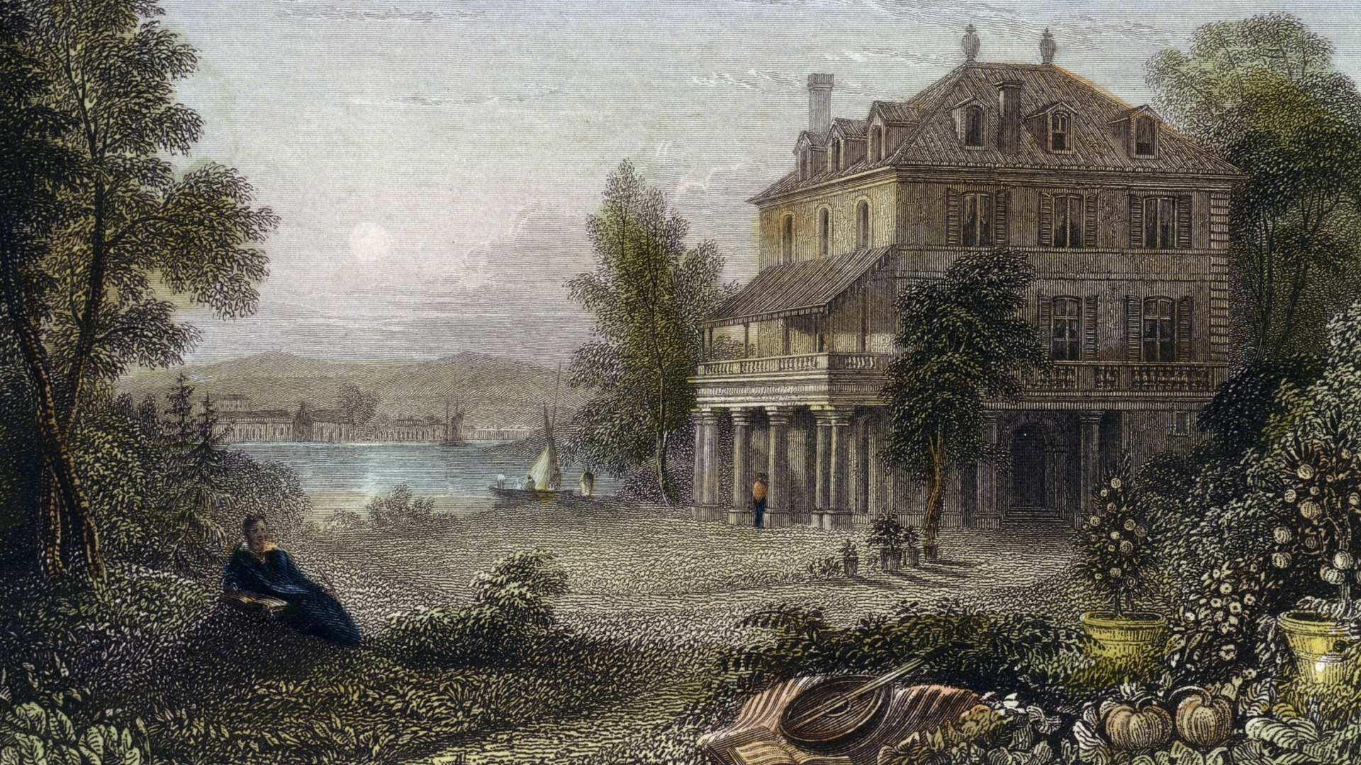 Villa Diodati, near Geneva, where literary character Frankenstein was created in 1816. (Credit: DeAgostini/Getty Images)