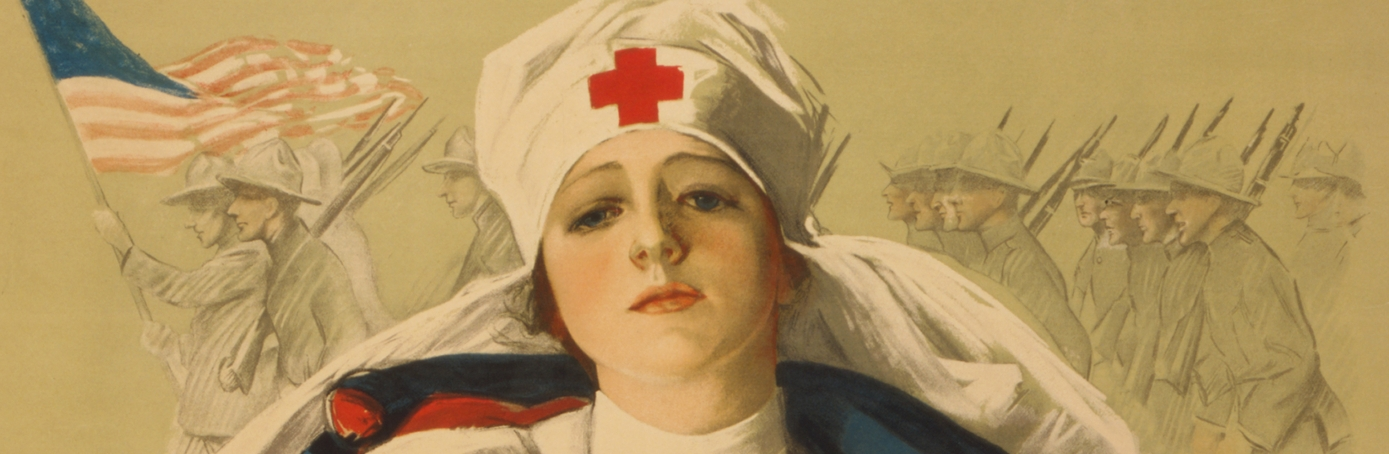 Poster for the Red Cross from 1918. (Credit: VCG Wilson/Corbis via Getty Images)