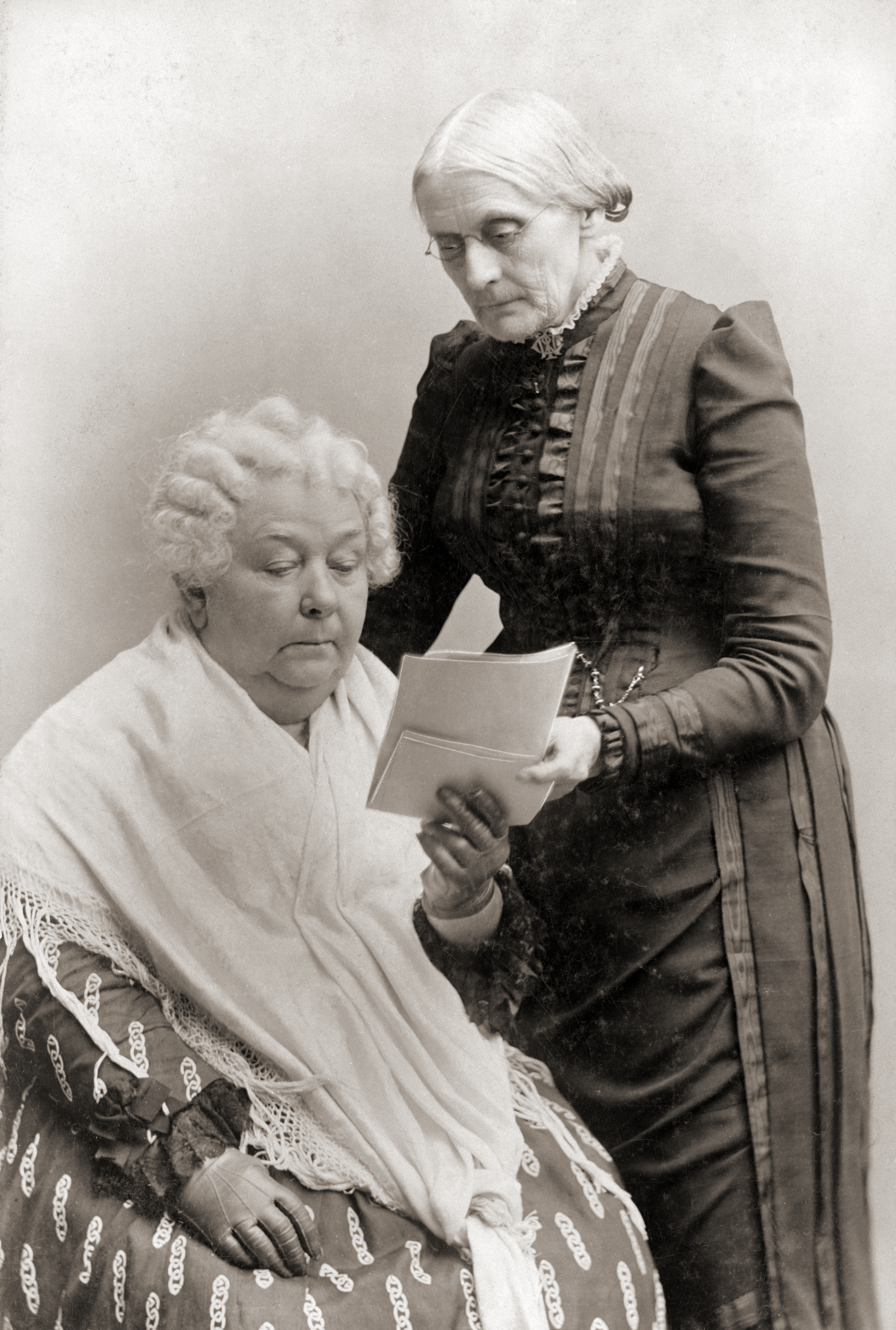 Elizabeth Cady Stanton and Susan B. Anthony. (Credit: GraphicaArtis/Getty Images)