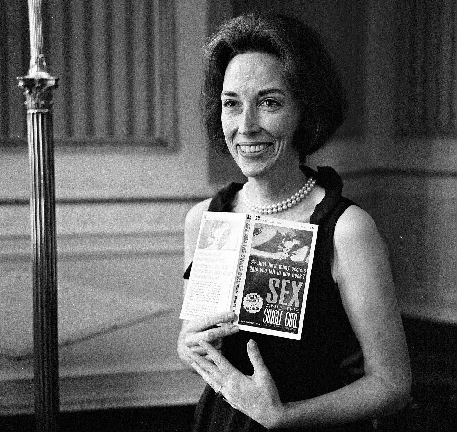 Author, publisher, and businesswoman Helen Gurley Brown, in 1964. She was the editor-in-chief of Cosmopolitan magazine for 32 years. (Credit: Daily Mirror/Mirrorpix/Getty Images)