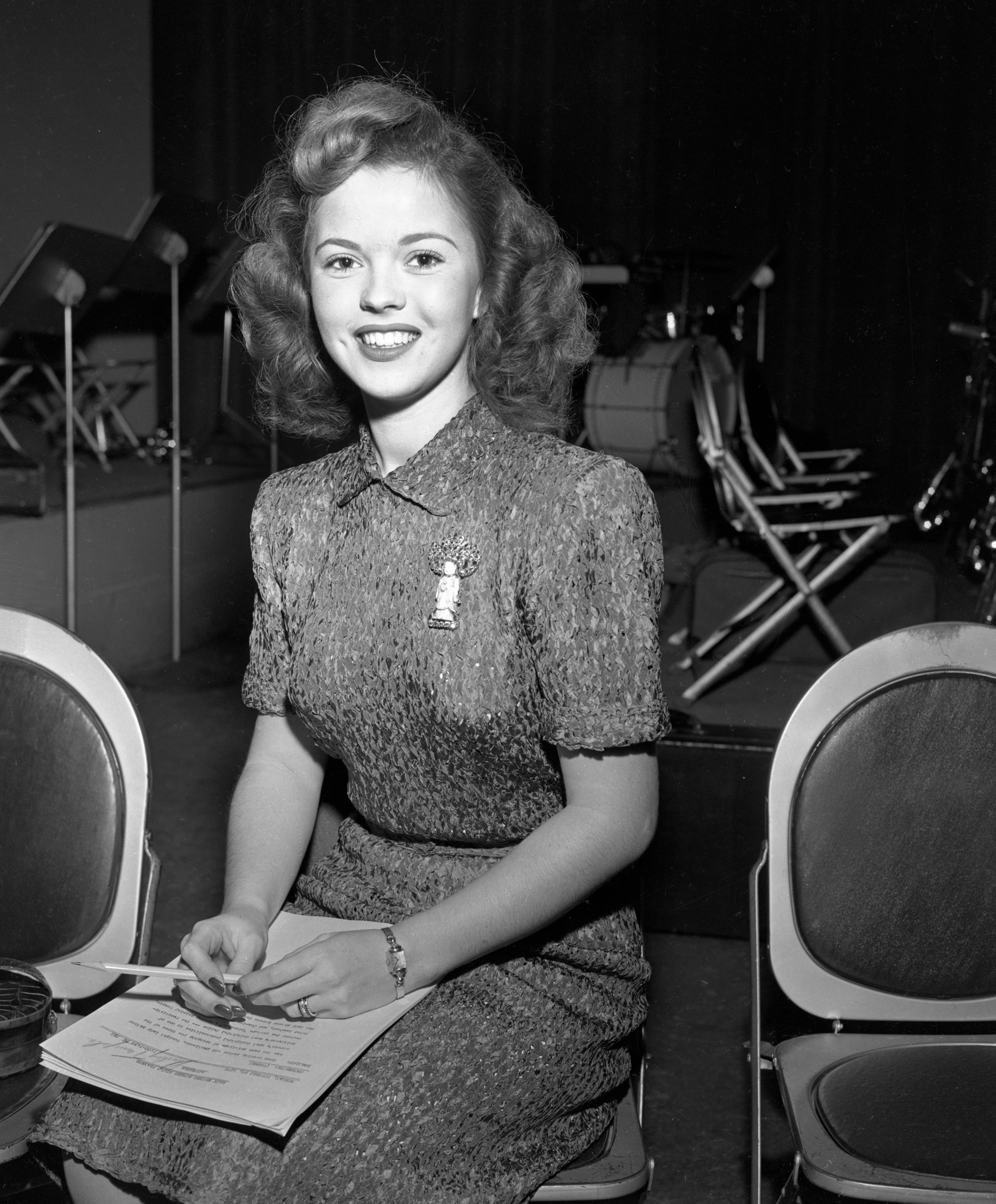 Shirley Temple on set, 1946. (Credit: CBS via Getty Images)