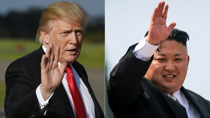 US President Donald Trump and North Korean leader Kim Jong-Un. (Credit: Ed Jones & Mandel Ngan/AFP/Getty Images)