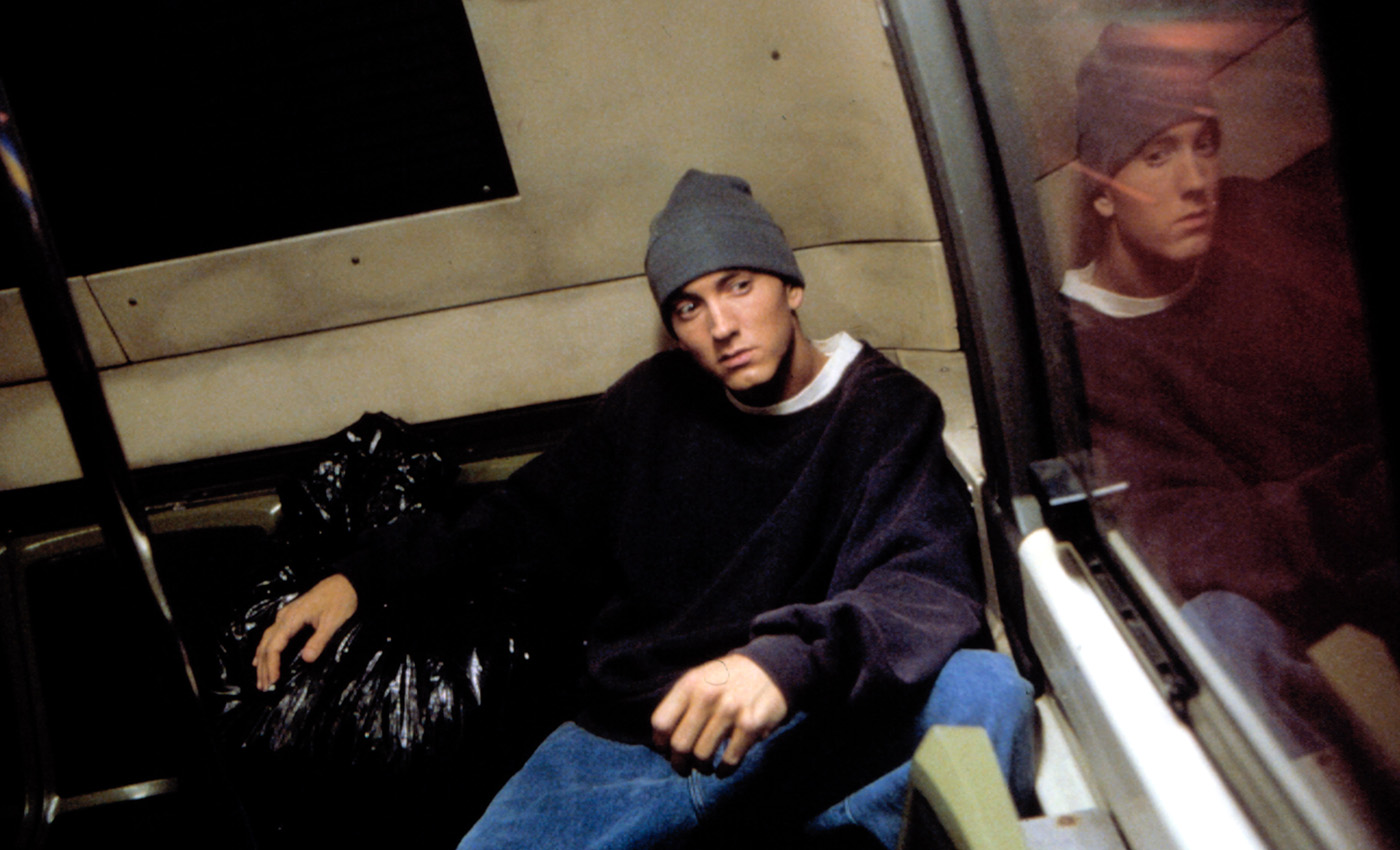 Eminem in the film 8 Mile, 2002. (Credit: Universal/Everett)