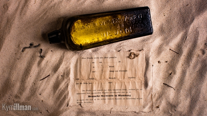 Oldest message in a bottle discovered at Wedge Island, Australia. (Credit: Kym Illman)