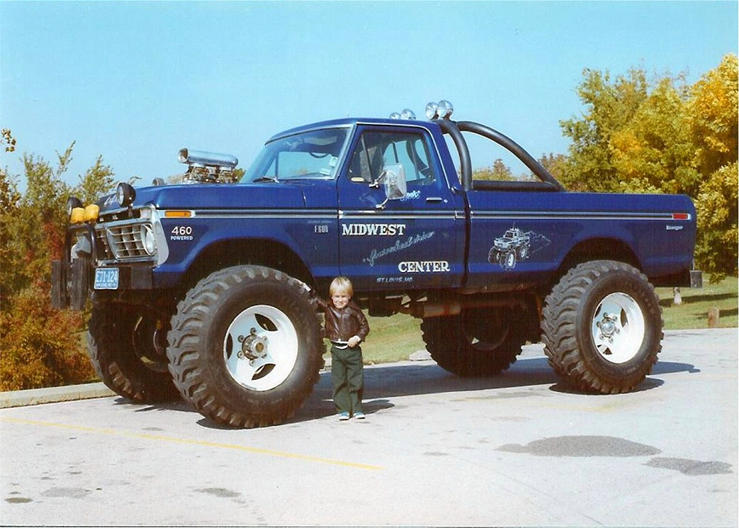 db302e1089b01 Bigfoot  1 was a modified 1974 Ford F-250 that began its career at