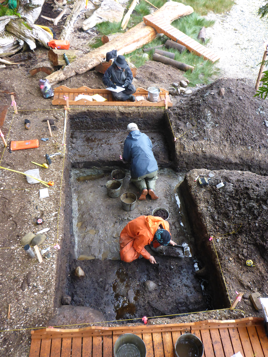 The excavation site that revealed the prints. (Credit: Joanne McSporran)