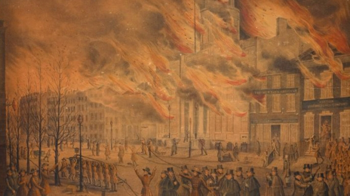 The Great Fire of New York City, 1835. (Credit: The New York Public Library)