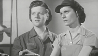 Watch Terrified Men Learn to Deal With Women in the Workforce During WWII