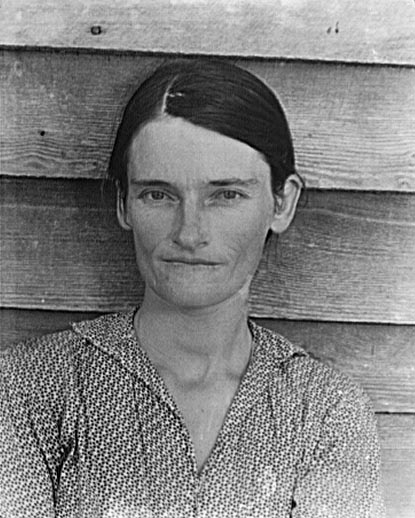 A photograph of Allie Mae Burroughs by Walker Evans. (Credit: Farm Security Administration/The Library of Congress)