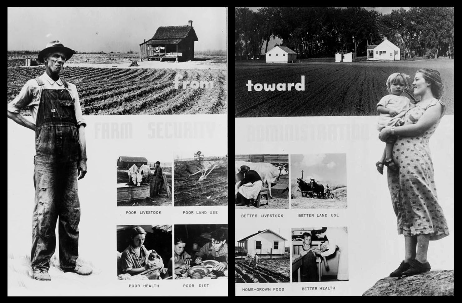 Images from a Farm Security Administration exhibit. (Credit: The Library of Congress)