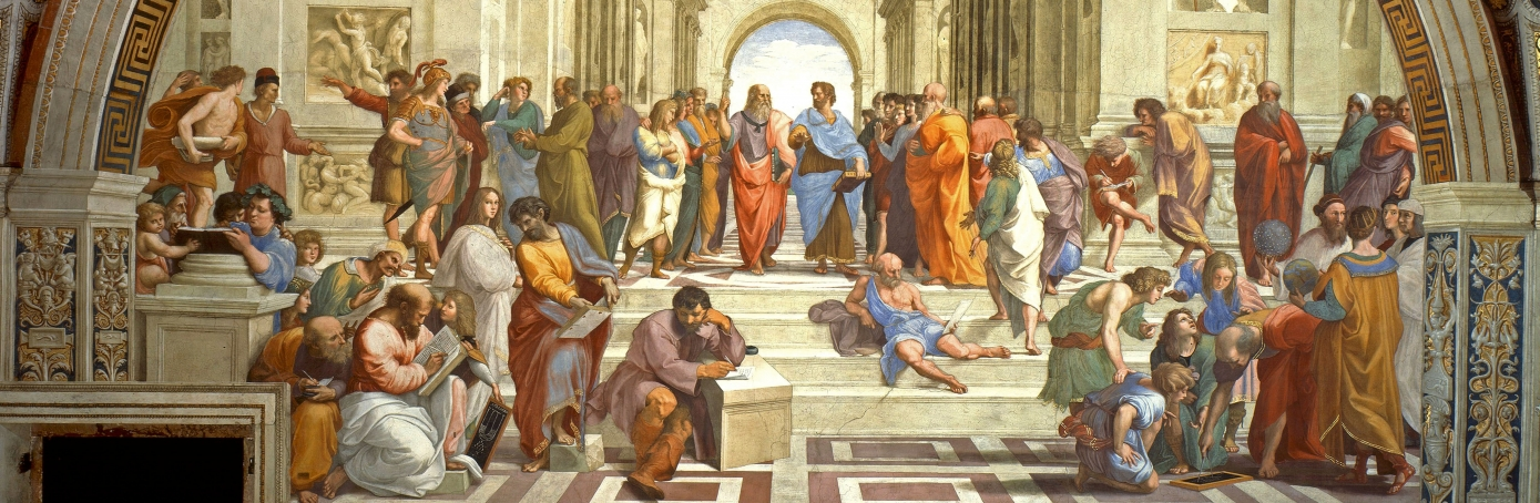 The School of Athens, or Scuola di Atene in Italian, one of the most famous paintings by the Italian Renaissance artist Raphael. (Credit: Universal History Archive/Getty Images)