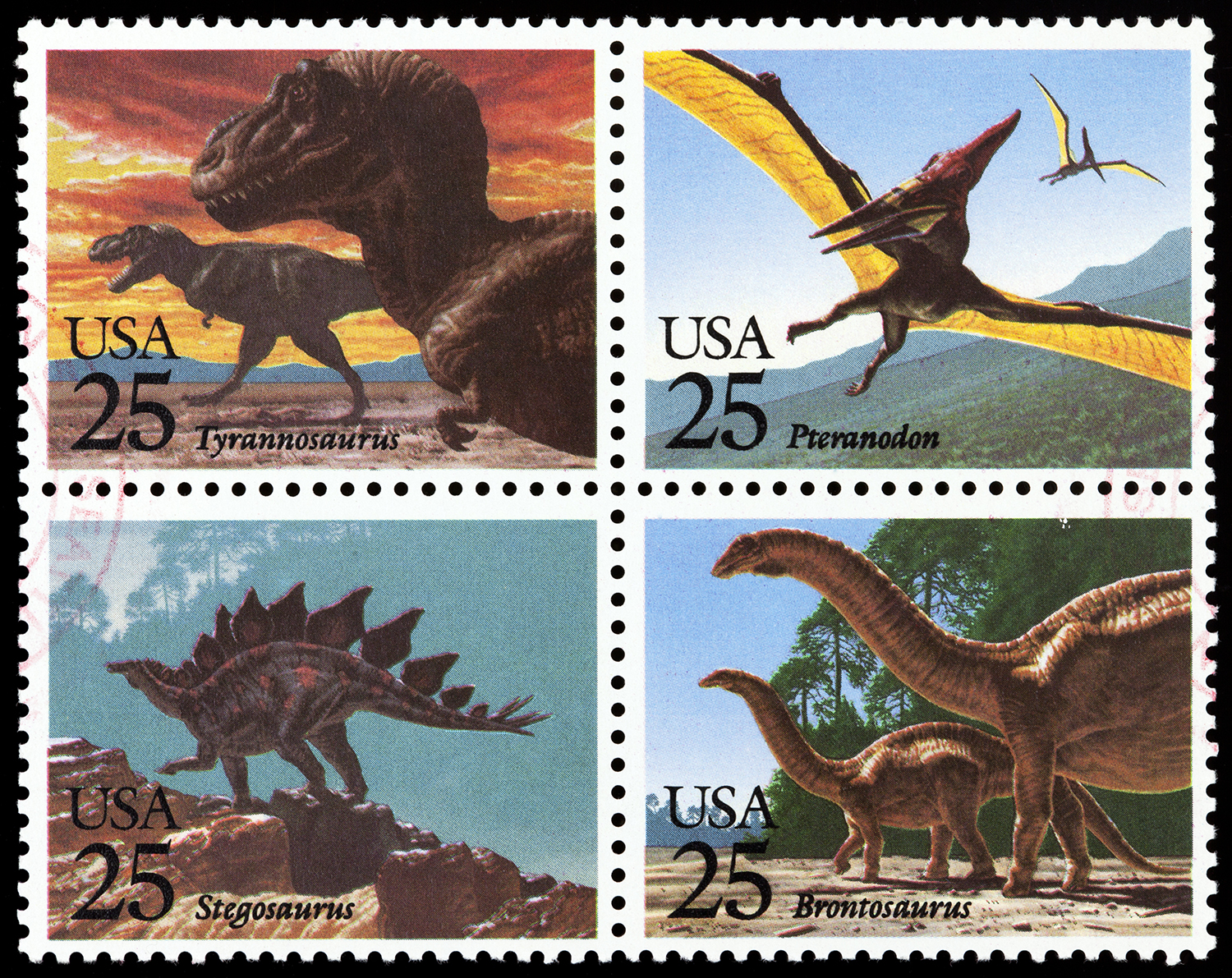 1989 Dinosaur stamps. (Credit: SunChan/Getty Images)