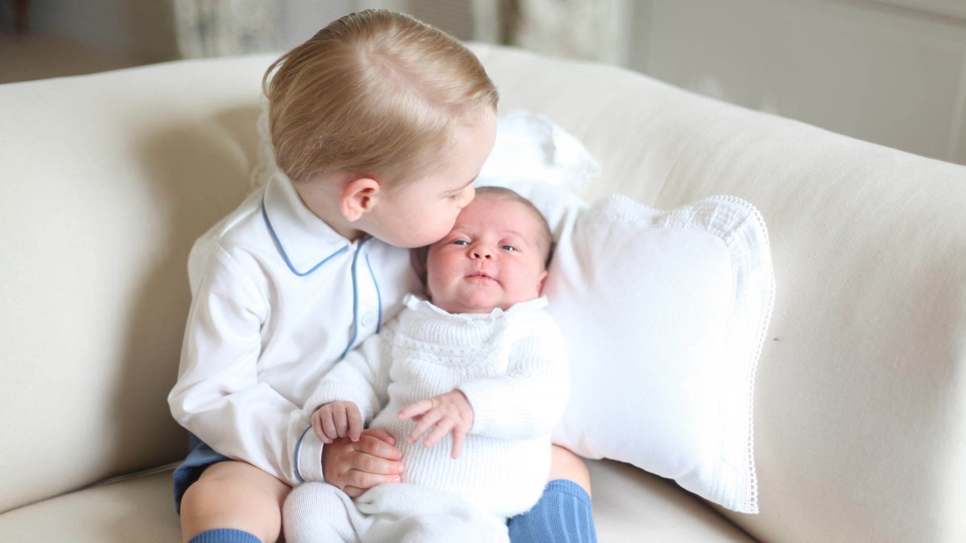 Prince George and Princess Charlotte at Anmer Hall in mid-May in Norfolk, England. (Credit: HRH The Duchess of Cambridge/Getty Images)