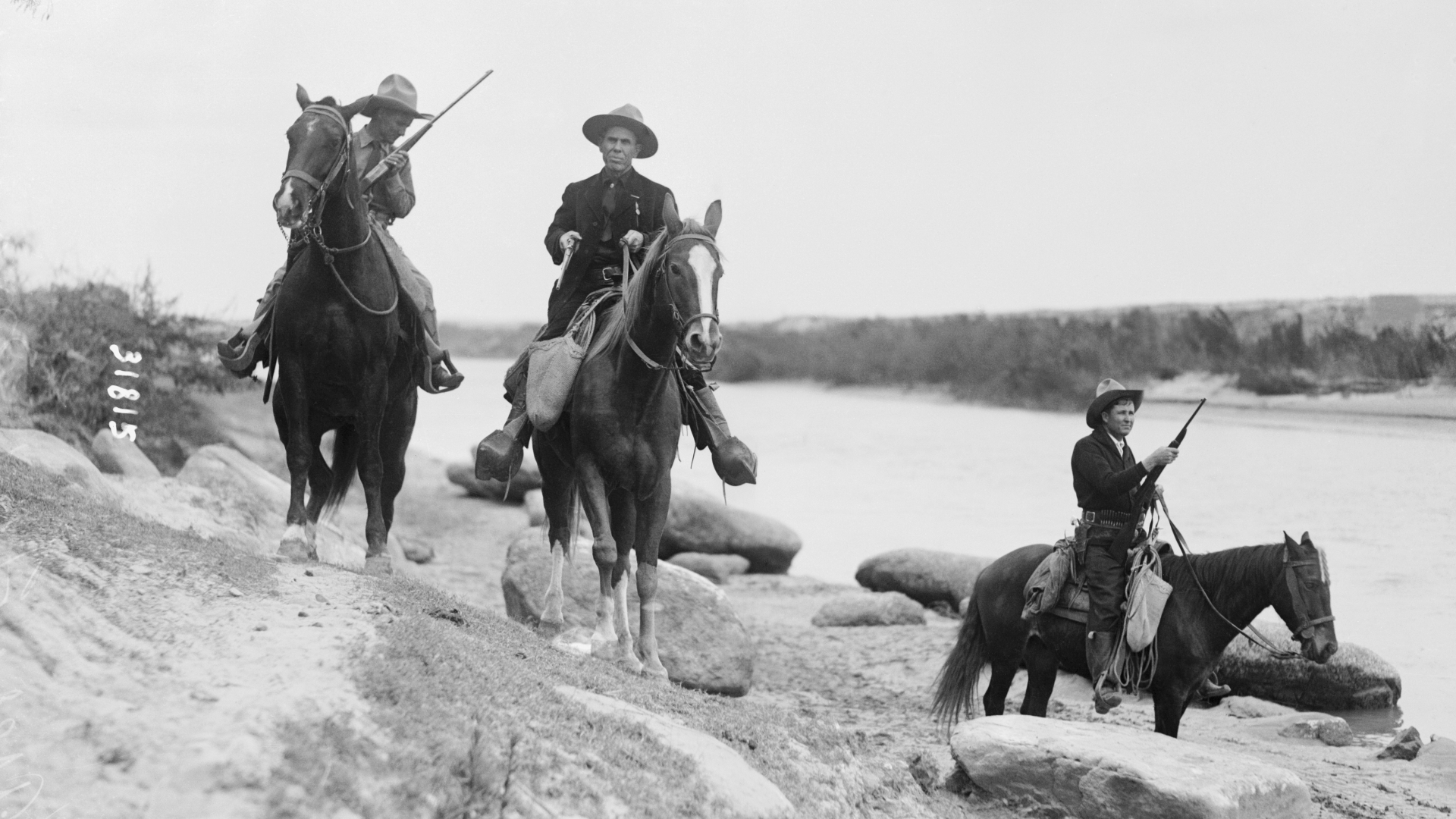 Texas Rangers patrolling the border circa 1915. (Credit: Bettmann Archive/Getty Images)