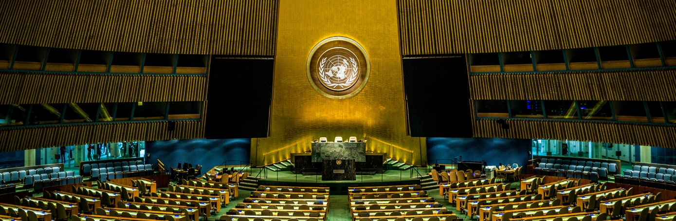 The General Assembly at the United Nations. (Credit: Phil Roeder/Getty Images)