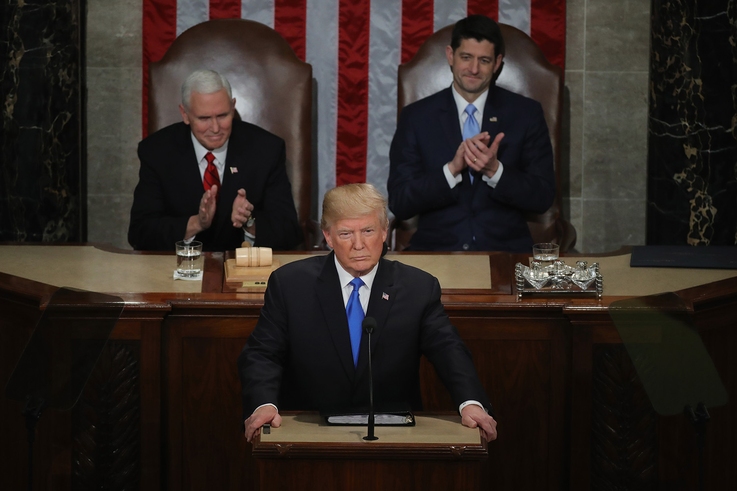 President Donald J. Trump delivering his first State of the Union address, January 30, 2018 in Washington, DC. (Credit: Chip Somodevilla/Getty Images)