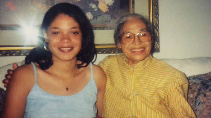 Rosa Parks with her niece, Urana McCauley. (Image courtesy of Urana McCauley)