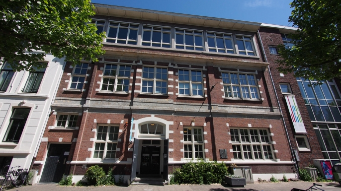 The house that stands at Plantage Middenlaan 27 in 2017, which was originally built in 1888 as a kindergarten and became the Reformed Teachers' Training College in 1907. (Credit: Len Collection/Alamy)