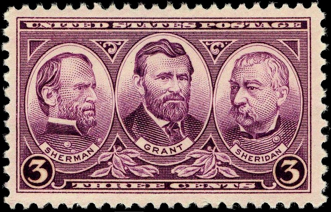 1937 Union Civil War generals stamp. (Credit: Public Domain)
