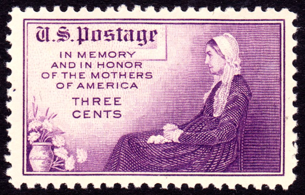 1934 Whistler's Mother stamp. (Credit: Public Domain)