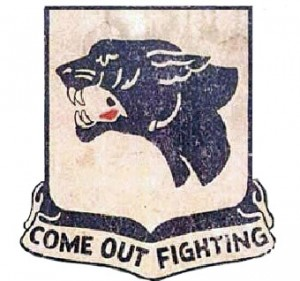 The Blank Panther logo for the 761st Tank Battalion. (Credit: Army Heraldry)