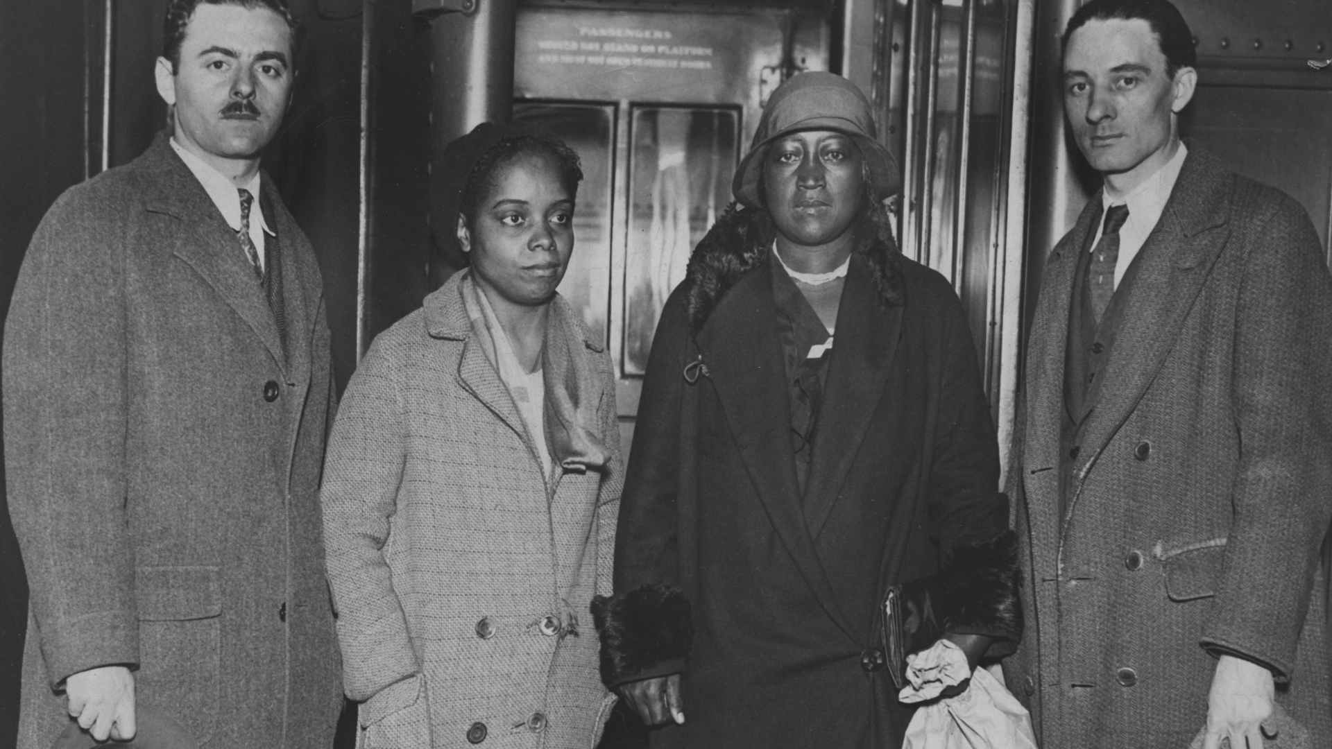 Communist Party members with the mother of Haywood Patterson, Janie Patterson (right), 1931. (Credit: Afro American Newspapers/Gado/Getty Images)