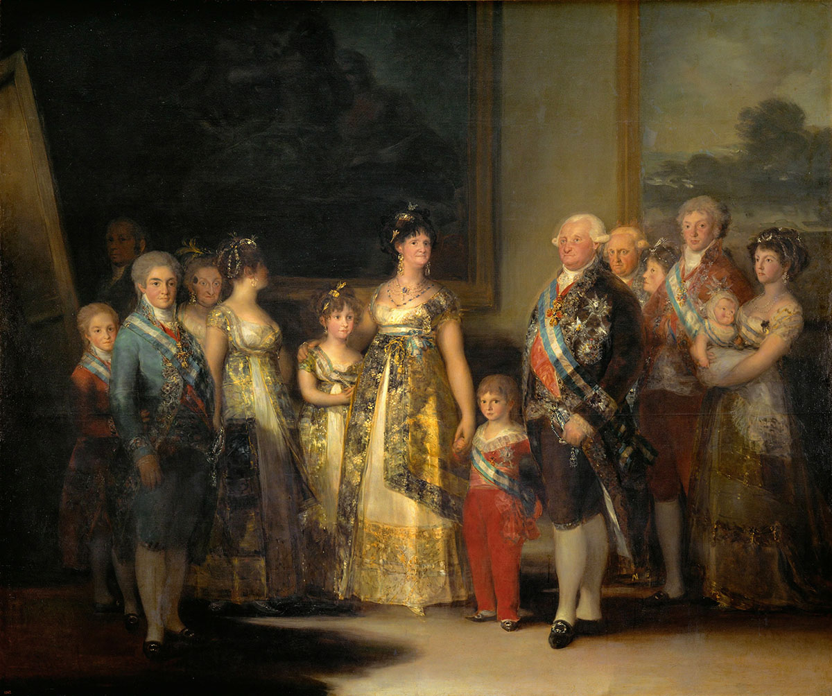 The Family of Charles IV, painted by Francisco Goya. (Credit: Imagno/Getty Images)