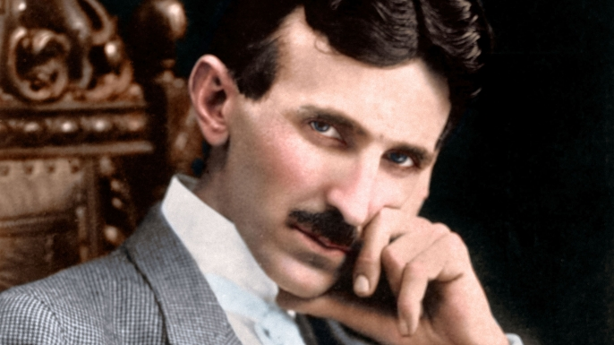 Colorized photo of Nikola Tesla. (Credit: Prometheus Entertainment)