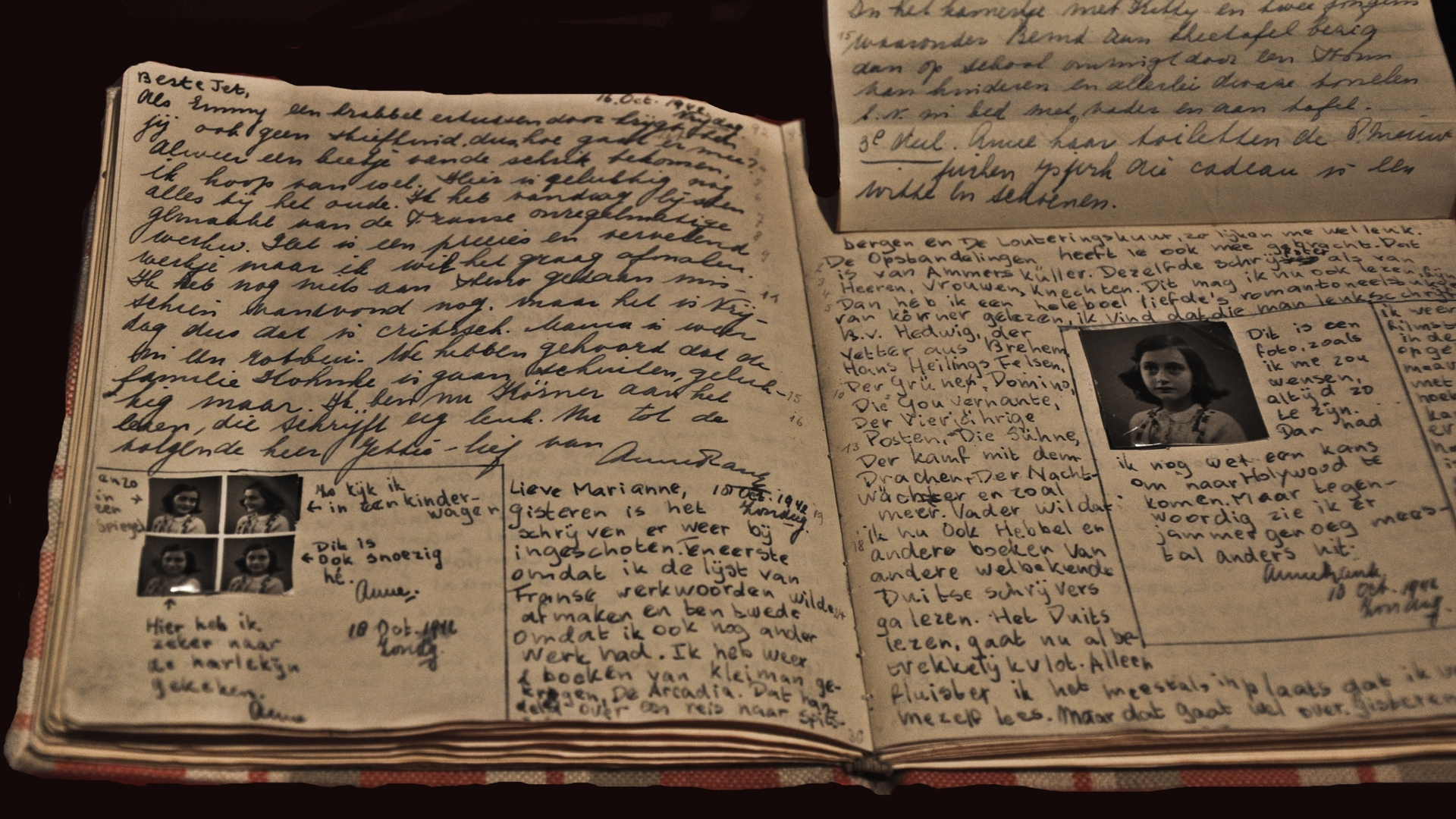 The diary of Anne Frank. Found in the collection of Anne Frank House Museum, Amsterdam. (Credit: Fine Art Images/Heritage Images/Getty Images)