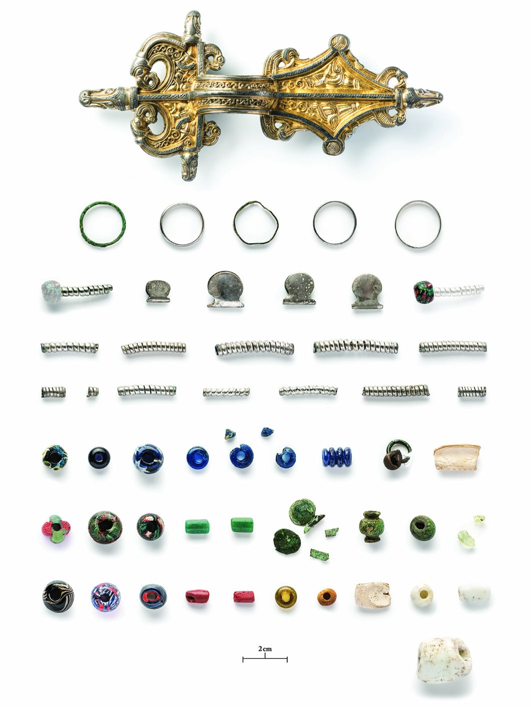 Artifacts found during a metal detector survey in 2010. (Credit: Daniel Lindskog)