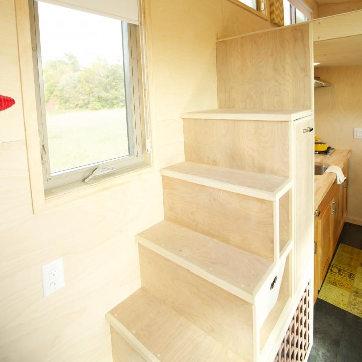 Tiny House Stair Storage