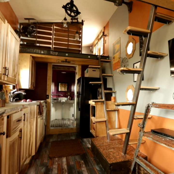 Modern Tiny House Interior: Modern-day Features Are Sprinkled Throughout This
